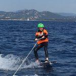 stage jeune kitesurf tracteee bateau
