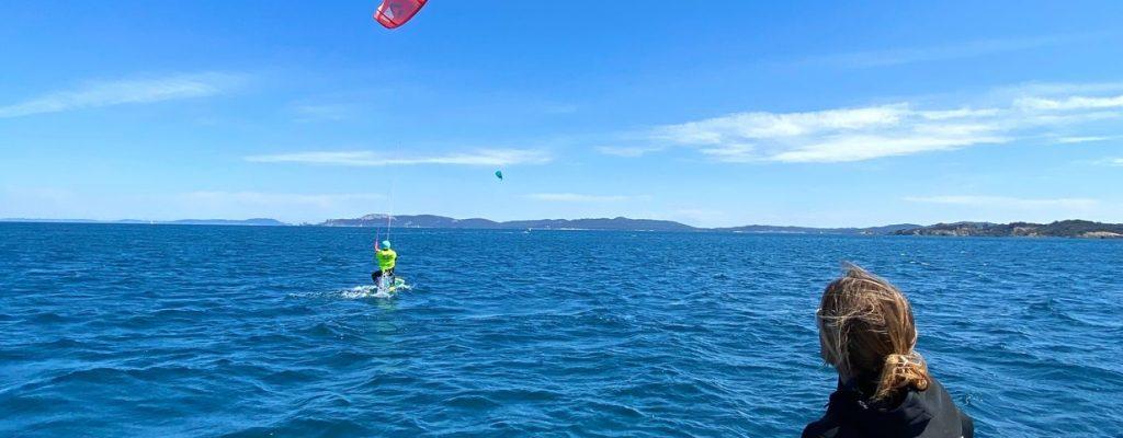 cours de kitesurf avec ariane ambert